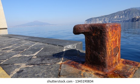Rusty mooring in Sorrento Italy