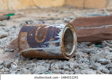 rusty old can of paint