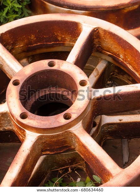 Rusty Old Industrial Wheel