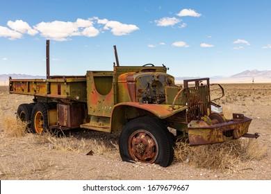 Rusty Old Work TruckNevada Desert