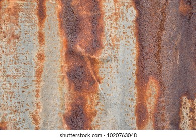 Rusty old zinc abstrac background.
