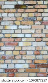 rusty orange brick wall background