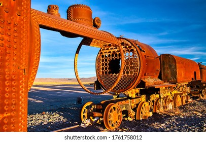 Rusty railway train view.. Rusty train. Railway train in rust