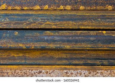 Rusty rectangular metal pipe