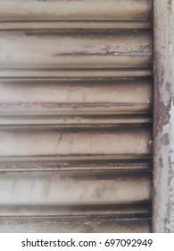 rusty shutter door
