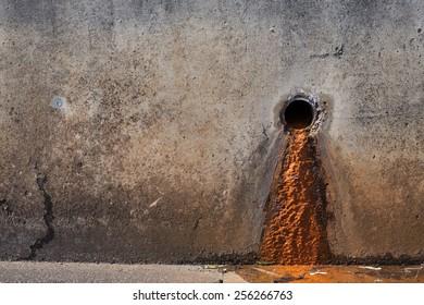 Rusty sludge from the drainpipe
