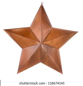 Rusty star isolated on white