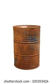 rusty steal barrel