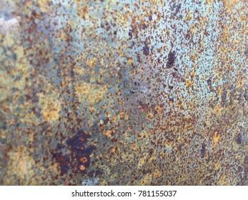 Rusty steel background, bokeh