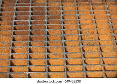 rusty steel grating background