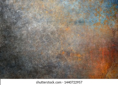 Rusty steel plate, corroded iron texture
