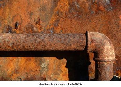Rusty steel water-main pipe