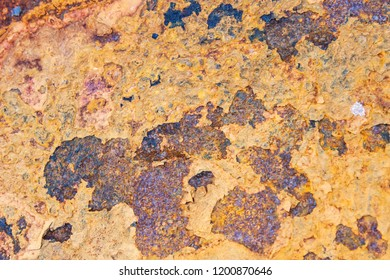 Rusty surface texture and grunge background