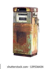 Rusty Vintage Fuel Pump