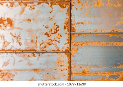 Rusty walling panel made of corten steel - weathering steel sheet