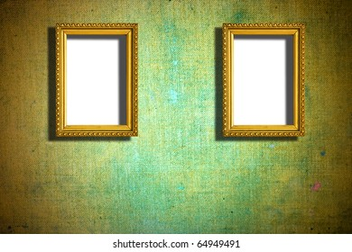 rusty wooden frames on abstract background