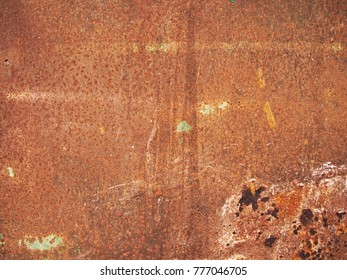 Rusty yellow and red metal texture