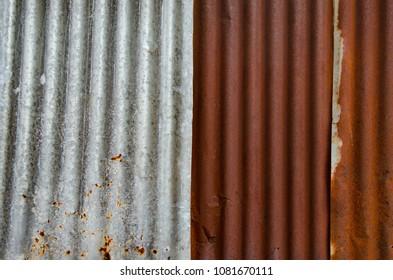 Rusty zinc roof, Texture background