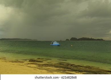 Rusuksn Island is an island where turtle hatchery and tourist island with a coral variety.