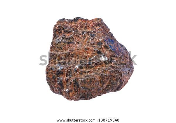 Rutile (titanium oxide). Principal ore of titanium.