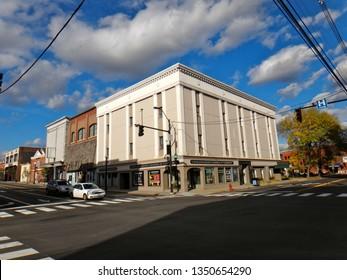 Rutland, VT - October 5 2014: The Rutland Regional Chamber of Commerce office building