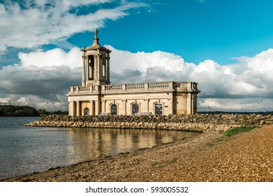 Rutland Water Park, England. Normanton Church which is Rutland's most famous landmark. England, United Kingdom