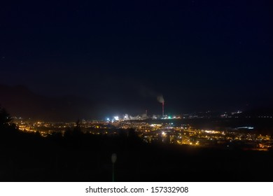 Ruzomberok at night, Slovakia