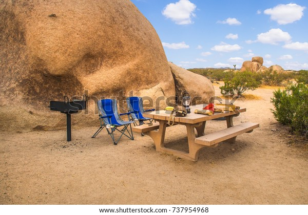 Rv Camping Camp Site Joshua Tree Stock Photo Edit Now