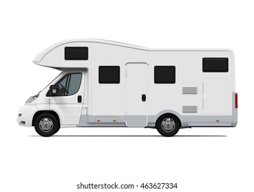 RV Caravan Isolated. 3D rendering