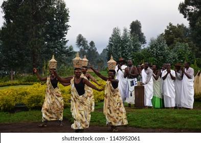 Rwanda, Africa - March 2012, Local people traditional dance