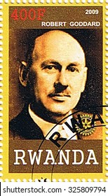 RWANDA - CIRCA 2009: A stamp printed in Rwanda shows Robert Goddard, series, circa 2009