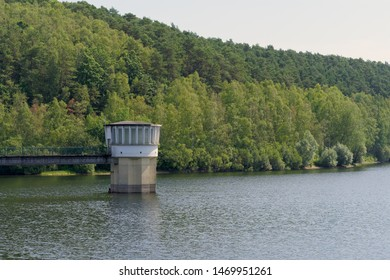 Ry de Rome dam at Couvin Belgium - Water treatment reserve and hydroelectricity