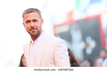 Ryan Gosling walks the red carpet ahead of the opening ceremony and the 'First Man' screening during the 75th Venice Film Festival at Sala Grande on August 29, 2018 in Venice, Italy.