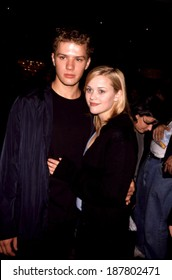 Ryan Phillippe, Reese Witherspoon at the New York Motion Picture club Awards & Installation Luncheon, 10/8/98