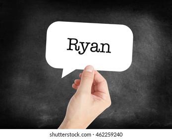 Ryan written in a speechbubble