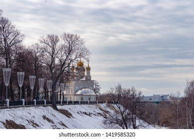 Ryazan Church on the waterfront in the winter