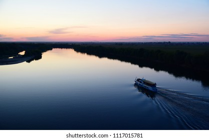 Ryazan. Evening over Oka-river