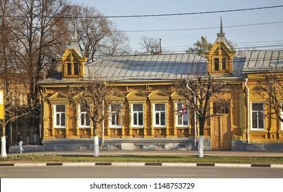 RYAZAN. RUSSIA. 02 MAY 2013 : Pervomaisky prospekt in Ryazan. Russia