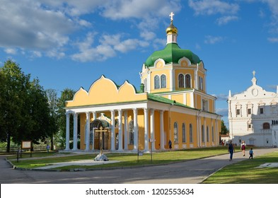 Ryazan, Russia - August 17, 2018: Cathedral of the Nativity in the Ryazan Kremlin