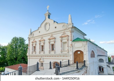 "Ryazan, Russia - August 17, 2018: Historical and architectural Museum-reserve ""Ryazan Kremlin"". Temple of the Beheading of John the Baptist"