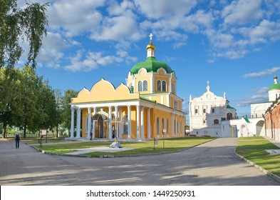 Ryazan, Russia - August 17, 2018: Cathedral of the Nativity and the Church of the beheading of John the Baptist in the Ryazan Kremlin