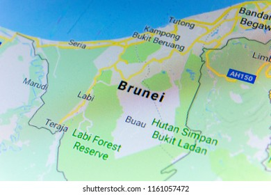World map with countries images stock photos vectors shutterstock ryazan russia july 08 2018 country of brunei on the google maps gumiabroncs Image collections