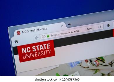Ryazan, Russia - July 11, 2018: NCSU.edu website on the display of PC.