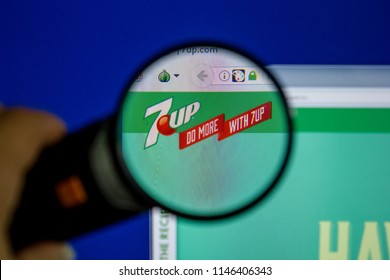 Ryazan, Russia - July 11, 2018: 7Up.com website on the display of PC.
