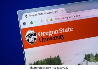 Ryazan, Russia - July 24, 2018: Homepage of OregonState website on the display of PC. Url - OregonState.edu .