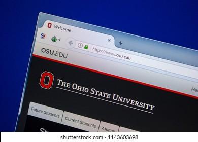Ryazan, Russia - July 25, 2018: Homepage of OSU website on the display of PC. Url - OSU.edu .