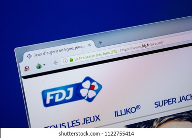 Ryazan, Russia - June 26, 2018: Homepage of Fdj website on the display of PC. URL - Fdj.fr.