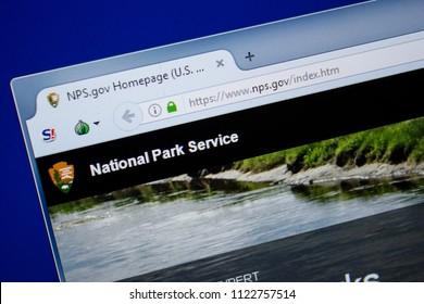 Ryazan, Russia - June 26, 2018: Homepage of NPS website on the display of PC. URL - NPS.gov.