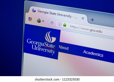 Ryazan, Russia - June 26, 2018: Homepage of GSU website on the display of PC. URL - GSU.edu.