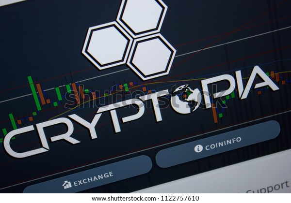 Ryazan, Russia - June 26, 2018: Homepage of Cryptopia website on the display of PC. URL - Cryptopia.co.nz.